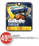 Gillette Fusion Proglide Cartridges 12's