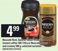 Nescafé Rich - Gold Or Taster's Choice Instant Coffee 100-170 G Or Nescafé Sweet And Creamy 396 G