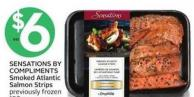 Sensations By Compliments Smoked Atlantic Salmon Strips Previously Frozen 150 g