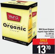 Mill Street Original Organic Lager Bottles - 6 X 341 Ml