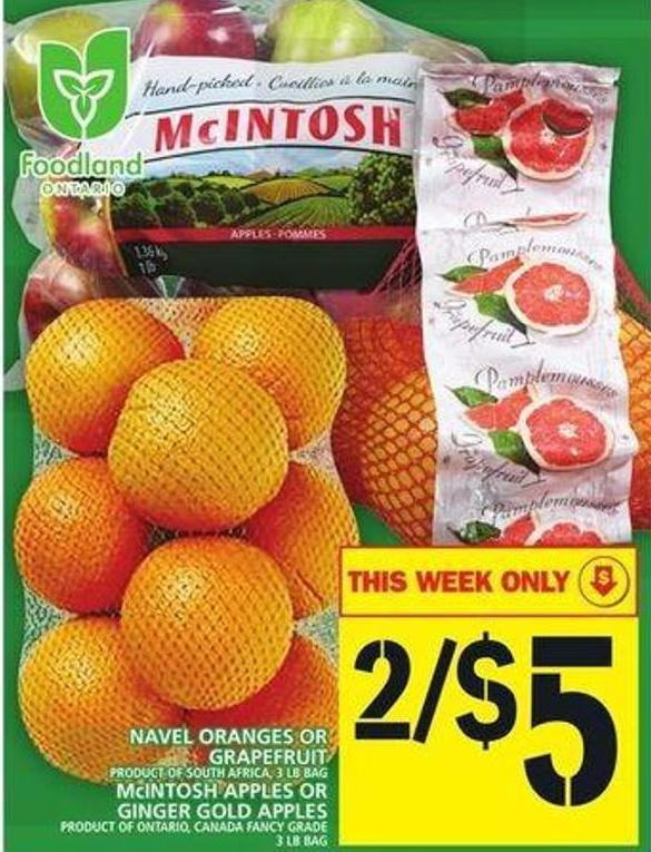 Navel Oranges Or Grapefruit