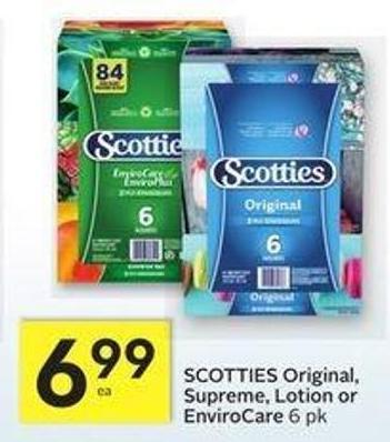 Scotties Original - Supreme - Lotion or Envirocare - 15 Air Miles Bonus Miles