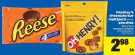 Hershey's Chocolate Bar Multipack 4's Or Pouches 160-230 G