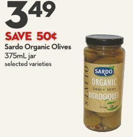 Sardo Organic Olives 375ml Jar