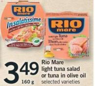 Rio Mare Light Tuna Salad Or Tuna In Olive Oil - 160 G