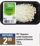 PC Organics Enoki Mushrooms - 150 g