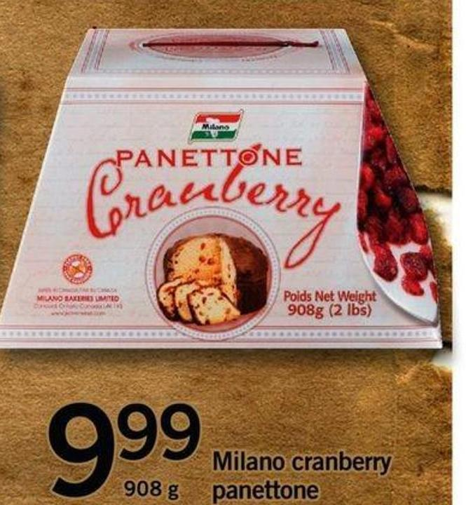 Milano Cranberry Panettone - 908 G