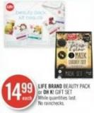 Life Brand Beauty Pack or Oh K! Gift Set