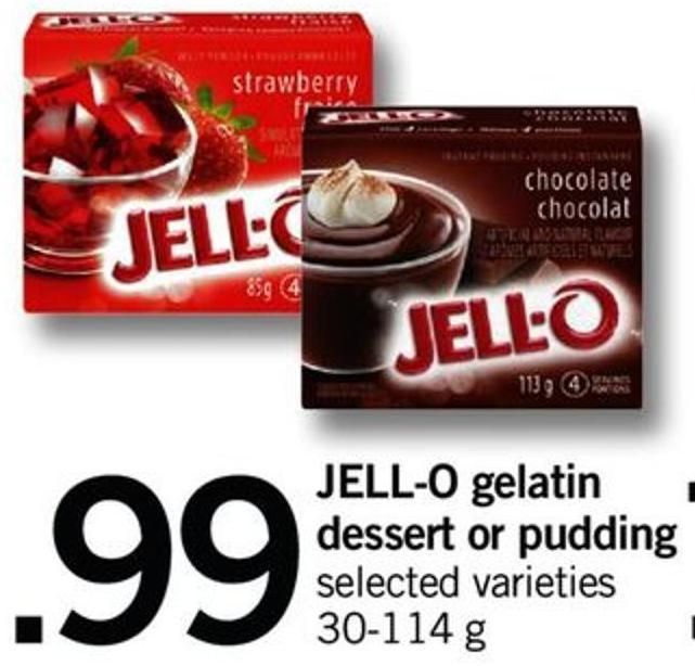 Jell-o Gelatin Dessert Or Pudding - 30-114 G