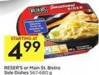 Reser's or Main St. Bistro Side Dishes 567 - 680 g