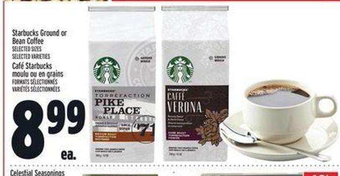 Starbucks Ground or Bean Coffee