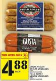 Gusta Vegan Wheat Sausages Or Field Roast Vegan Sausages
