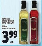 Tonnelli White Or Red Wine Vinegar 500 ml