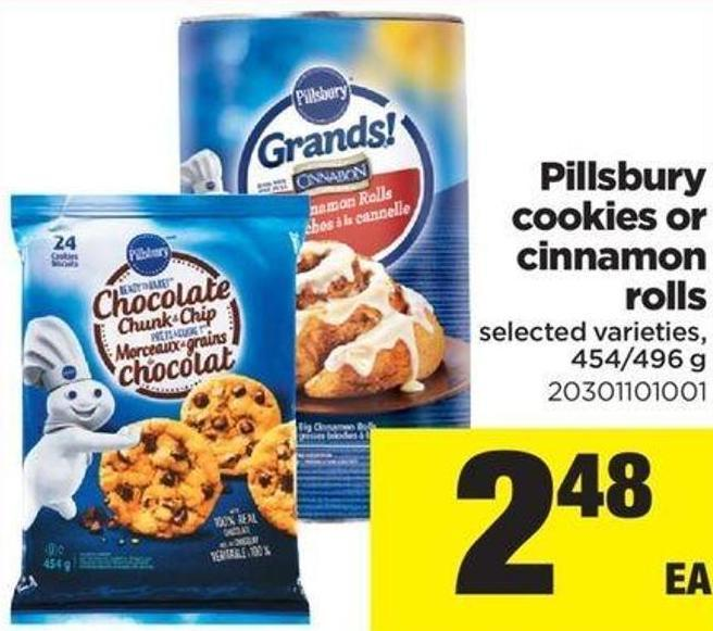 Pillsbury Cookies Or Cinnamon Rolls - 454/496 g