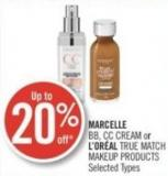 Marcelle Bb - Cc Cream or L'oréal True Match Makeup Products