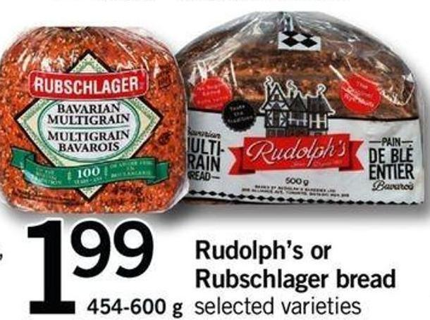 Rudolph's Or Rubschlager Bread - 454-600 G