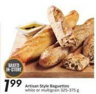 Artisan Style Baguettes
