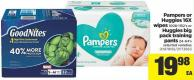 Pampers Or Huggies 16x Wipes - 1008-1152's Or Huggies Big Pack Training Pants - 24-64's