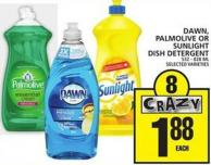 Dawn - Palmolive Or Sunlight Dish Detergent