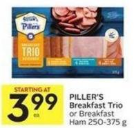 Piller's Breakfast Trio or Breakfast Ham 250-375 g