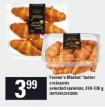 Farmer's Market Butter Croissants - 240-336 g