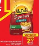 Mccain Premium Potato Fries