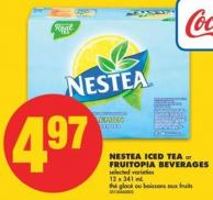 Nestea Iced Tea or Fruitopia Beverages - 12 X 341 mL