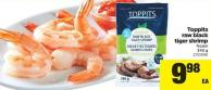 Toppits Raw Black Tiger Shrimp - 340 g