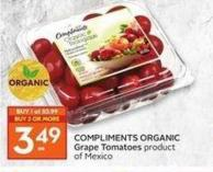 Compliments Organic Grape Tomatoes
