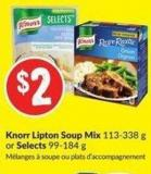Knorr Lipton Soup Mix 113-338 g or Selects 99-184 g