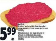 Red Grill Boneless Tenderized Hip Steak Value Pack