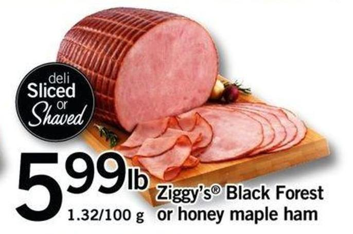 Ziggy's Black Forest Or Honey Maple Ham