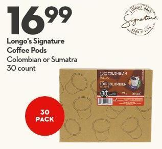 Longo's Signature Coffee Pods