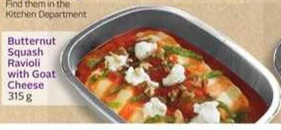 Butternut Squash Ravioli With Goat Cheese-10 Air Miles Bonus Miles