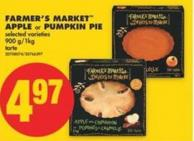 Farmer's Market Apple or Pumpkin Pie - 900 G/1kg
