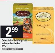Celestial Or Twinings Tea - 20's