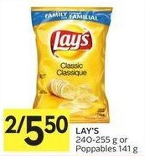 Lay's 240-255 g or Poppables 141 g