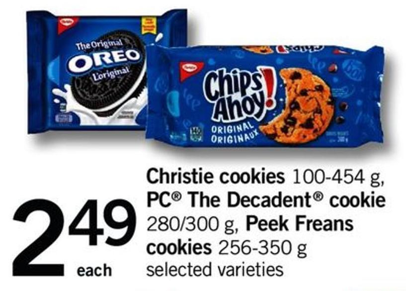 Christie Cookies - 100-454 G - PC The Decadent Cookie - 280/300 G - Peek Freans Cookies - 256-350 G