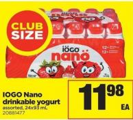 IOGO Nano Drinkable Yogurt - 24x93 mL