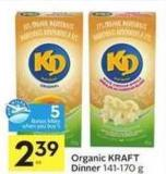 Organic Kraft Dinner - 5 Air Miles Bonus Miles