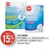 Life Brand Whitening (1's) - Mouthguard (1's)or Denture Cleanser (96's)