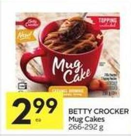 Betty Crocker Mug Cakes