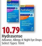 Hydrasense Advance - Allergy & Night Eye Drops