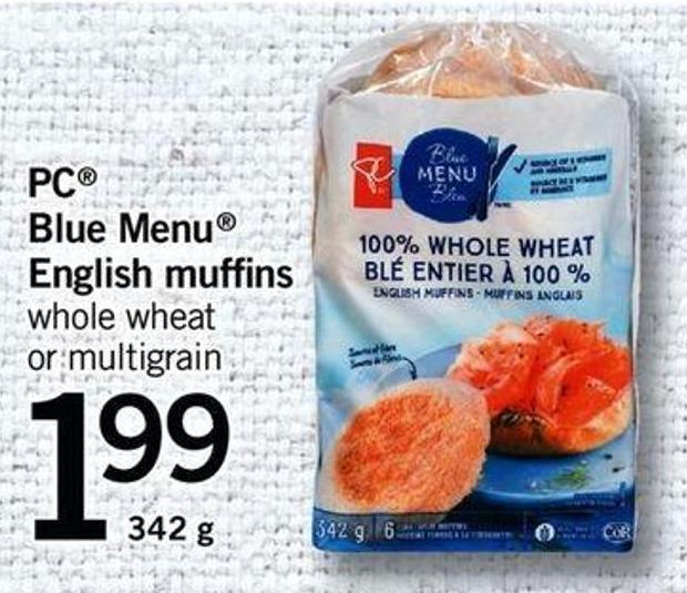 PC Blue Menu English Muffins - 342 G