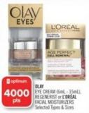 Olay Eye Cream (6ml - 15ml) - or L'oréal Facial Moisturizers