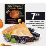 Farmer's Market Fruit - Pumpkin Or Crumbled Pies - 960 G-1 Kg