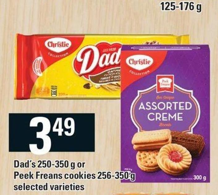 Dad's - 250-350 G Or Peek Freans Cookies - 256-350 G