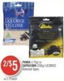 Panda (170g) or Capricorn (200g) Licorice