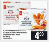 PC Breaded Chicken Or PC Plant Based Meatless Chicken - 340-800g