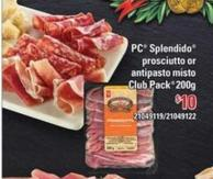 PC Splendido Prosciutto Or Antipasto Misto - 200g